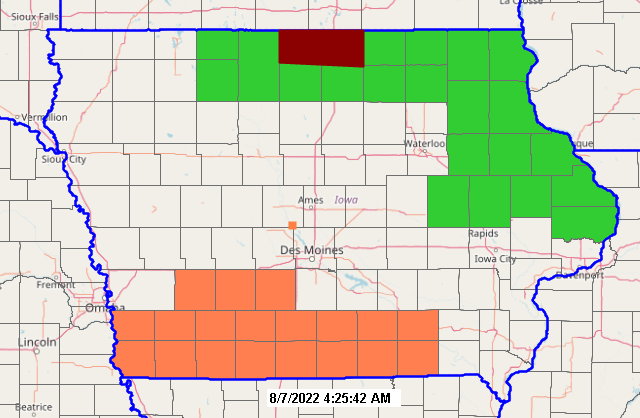 Iowa advisories